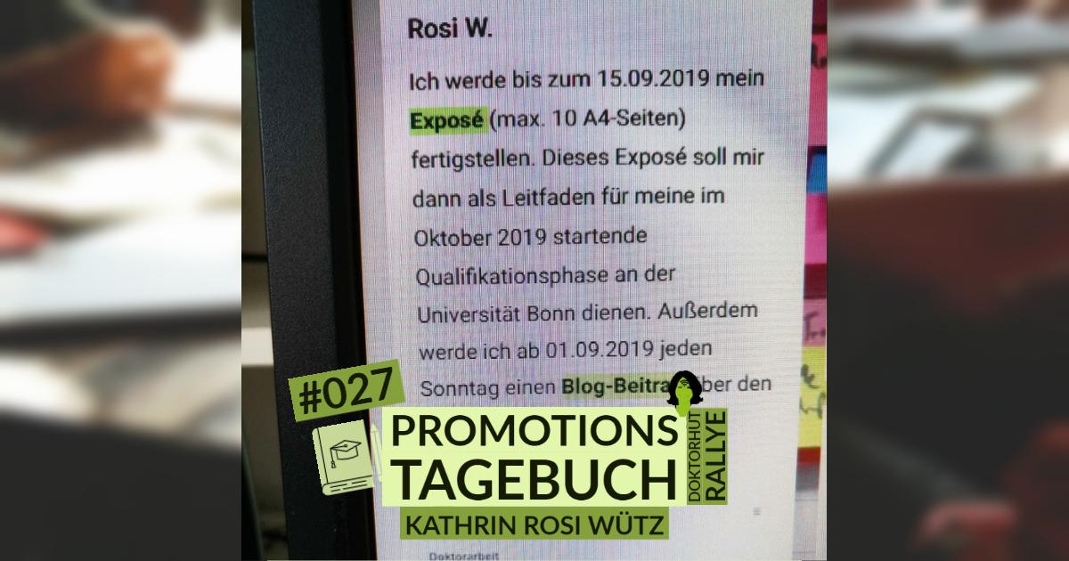 Promotionstagebuch Kathrin Rosi Würtz Wer schreibt, der bleibt