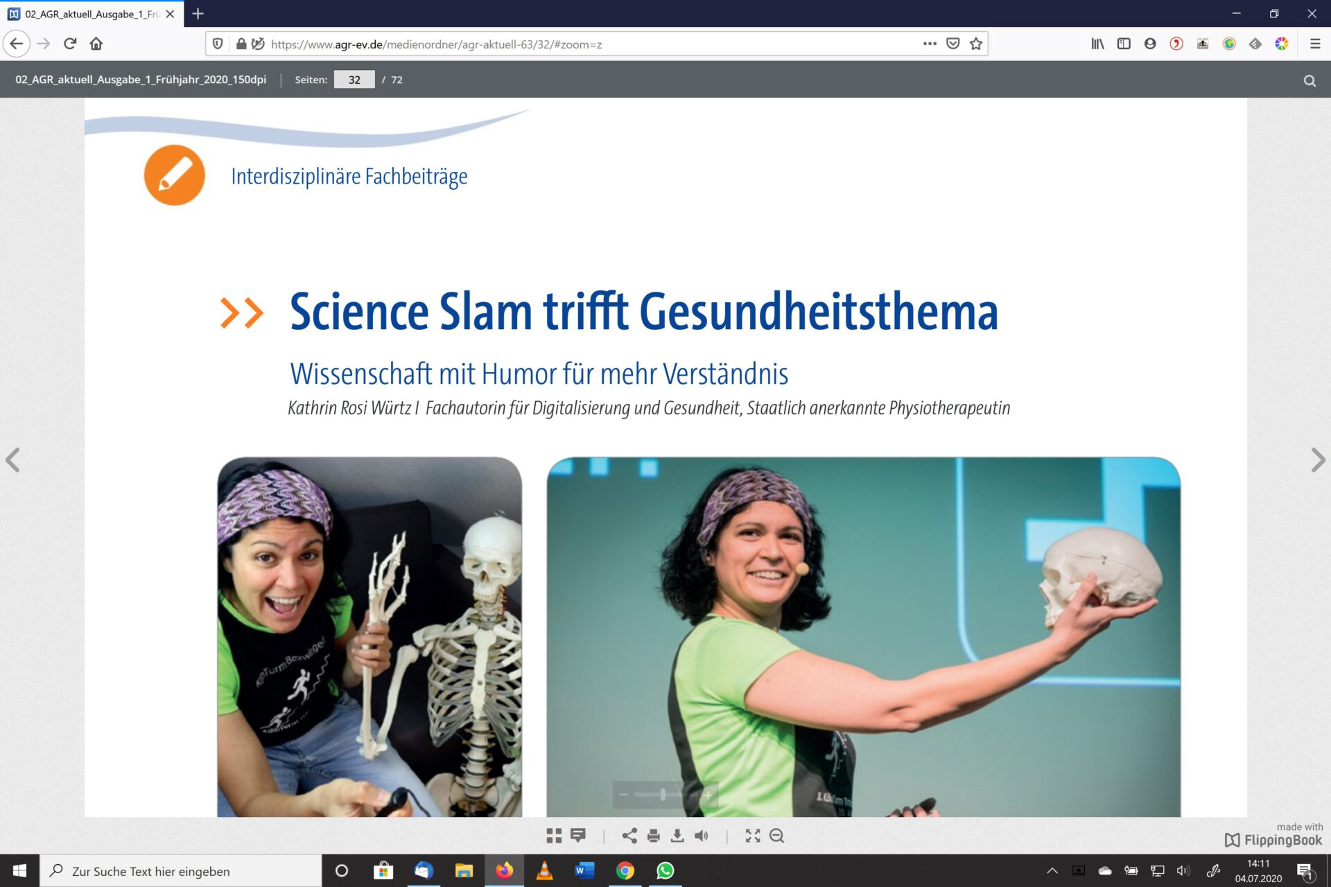 Screenshot vom Beitrag Science Slam trifft Gesundheitsthema