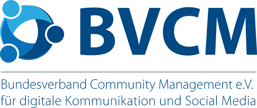 Logo vom Bundesverband Community Management e.V. für digitale Kommunikation & Social Media (BVCM)
